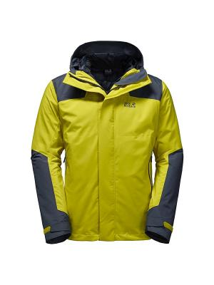 Куртка ALTIPLANO MEN Jack Wolfskin. Цвет: желтый