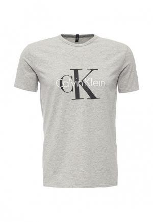 Футболка домашняя Calvin Klein Underwear. Цвет: серый