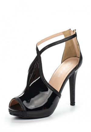 Босоножки Style Shoes. Цвет: черный