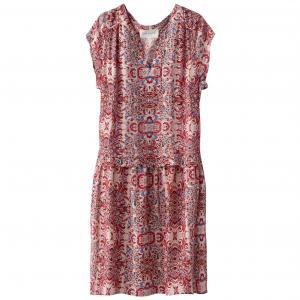 Платье струящееся с короткими рукавами и рисунком SUD EXPRESS. Цвет: наб. рисунок/ розовый