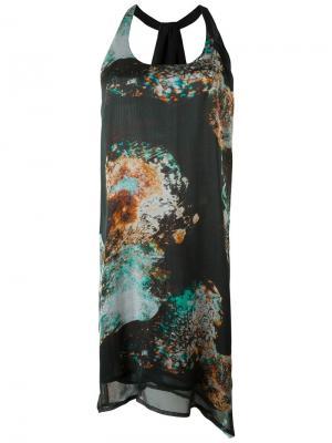 Платье Esk Minimarket. Цвет: многоцветный