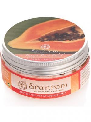 Крем-масло для тела Фруктовый Салат из Папайи Sranrom. Цвет: белый
