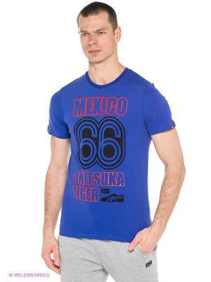 Футболка MEXICO 66 TEE ONITSUKA TIGER. Цвет: синий
