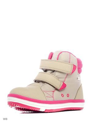Ботинки Reima. Цвет: кремовый, малиновый