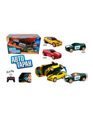 Набор радиоуправляемых машин Автотаран (1 машинка с механизмом переворота) YAKO. Цвет: желтый, красный, черный