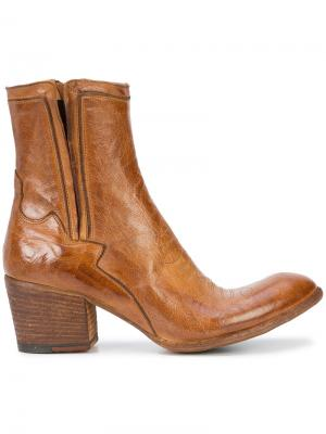 Ковбойские ботинки Fauzian Jeunesse. Цвет: коричневый