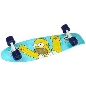 Скейт мини круизер  Simpsons 27 Ltd Homer 7.5 x (68.6 см) Penny. Цвет: голубой,мультиколор