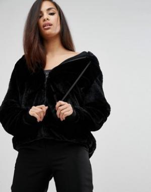 Kendall + Kylie Худи из искусственного меха. Цвет: черный