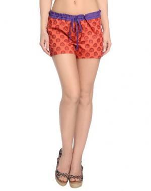 Пляжные брюки и шорты OPALINE. Цвет: красный
