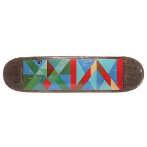 Дека для скейтборда  Sebo Mountain Jr 32 x 8.06 (20.5 см) Krooked. Цвет: мультиколор