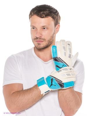 Перчатки Momentta Puma. Цвет: молочный, голубой
