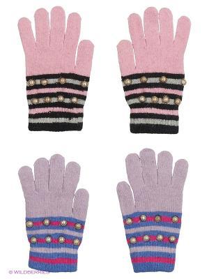 Перчатки FOMAS. Цвет: розовый, черный, голубой, сиреневый