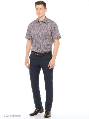 Рубашка мужская с коротким рукавом Mr. Marten. Цвет: синий