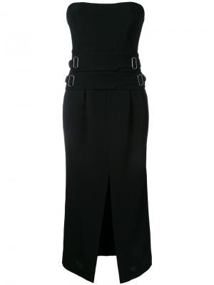 Платье Crepe Mesmeric Bianca Spender. Цвет: чёрный