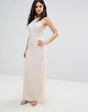 Maya Шифоновое платье макси. Цвет: кремовый
