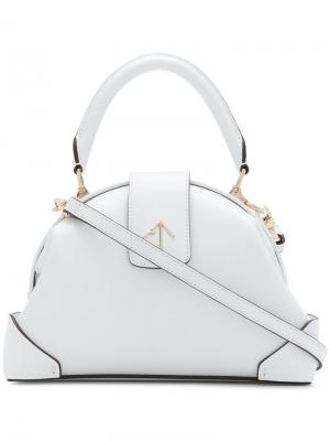Маленькая сумка-тоут Demi Manu Atelier. Цвет: белый