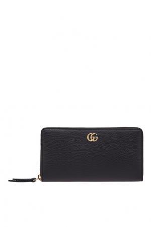 Кожаный кошелек Gucci. Цвет: черный