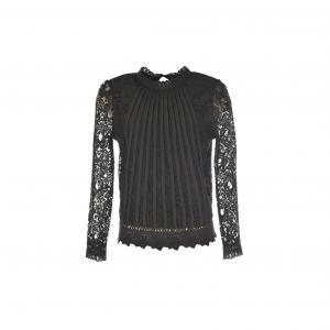 Блузка из кружева New-York RENE DERHY. Цвет: черный