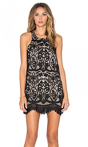 Платье caspian Lovers + Friends. Цвет: черный