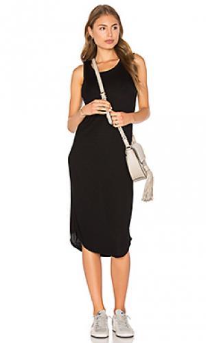 Платье в рубчик luxe Assembly Label. Цвет: черный