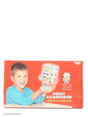 Набор для детского творчества Робот Лампочкин GENIO KIDS. Цвет: красный