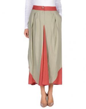 Длинная юбка OBLIQUE CREATIONS. Цвет: серый