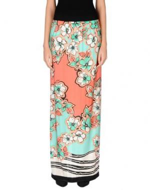 Длинная юбка CHIARA D'ESTE. Цвет: коралловый
