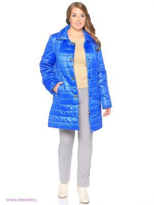 Утепленное пальто MONTSERRAT. Цвет: синий