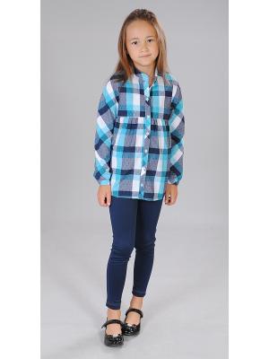 Блузка Милашка Сьюзи. Цвет: синий