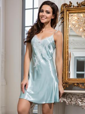 Ночная сорочка MIA-AMORE. Цвет: светло-голубой