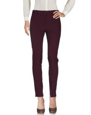 Повседневные брюки CANNELLA. Цвет: баклажанный