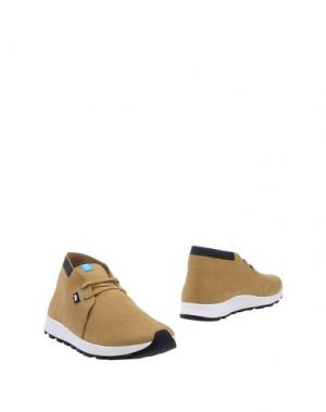 Полусапоги и высокие ботинки NATIVE. Цвет: охра