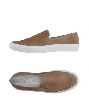 Низкие кеды и кроссовки CANTARELLI. Цвет: бежевый