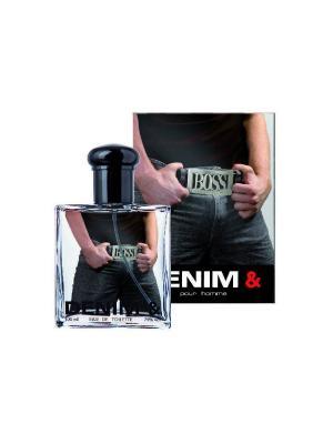 Т/в Denim &  Boss муж 100 мл Parfums Louis Armand. Цвет: голубой