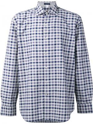 Рубашка в клетку Paul & Shark. Цвет: синий
