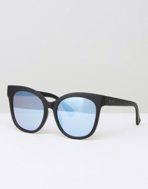 Quay Australia Солнцезащитные очки кошачий глаз с плоскими стеклами It. Цвет: черный