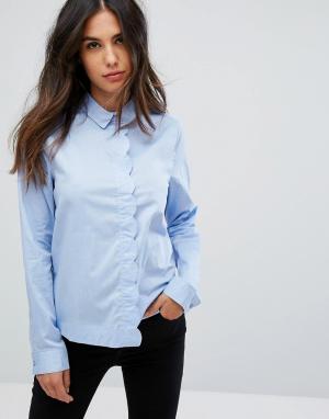Pieces Рубашка Shelby. Цвет: синий
