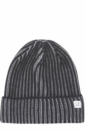 Шерстяная шапка бини C.P. Company. Цвет: серый