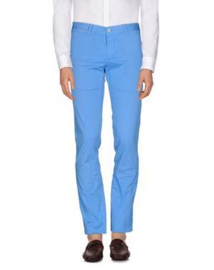Повседневные брюки SOHO. Цвет: лазурный