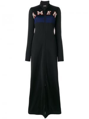 Длинное декорированное платье-толстовка Amen. Цвет: чёрный