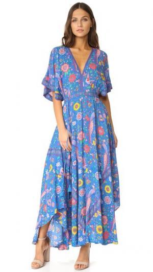 Вечернее платье Lovebird Half Moon SPELL. Цвет: насыщенный небесный