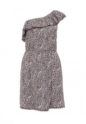 Платье Emdi. Цвет: коричневый