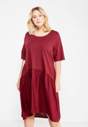 Платье Junarose. Цвет: бордовый