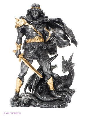 Статуэтка Викинг и Дракон Veronese. Цвет: серебристый