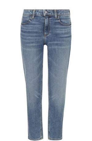 Укороченные джинсы прямого кроя с завышенной талией Denim X Alexander Wang. Цвет: синий