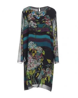 Короткое платье ANNA RACHELE. Цвет: темно-синий