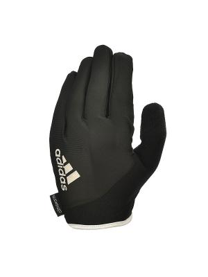 Перчатки для фитнеса (с пальцами) Adidas Essential черно\белые размер S. Цвет: черный
