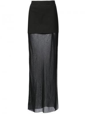 Длинная прозрачная юбка Musée. Цвет: чёрный