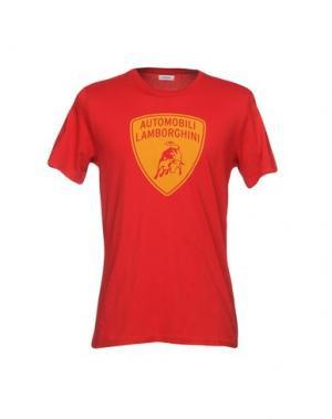 Футболка AUTOMOBILI LAMBORGHINI. Цвет: красный