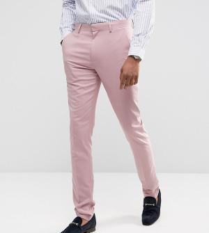 ASOS Брюки скинни пыльно-розового цвета TALL Wedding. Цвет: розовый